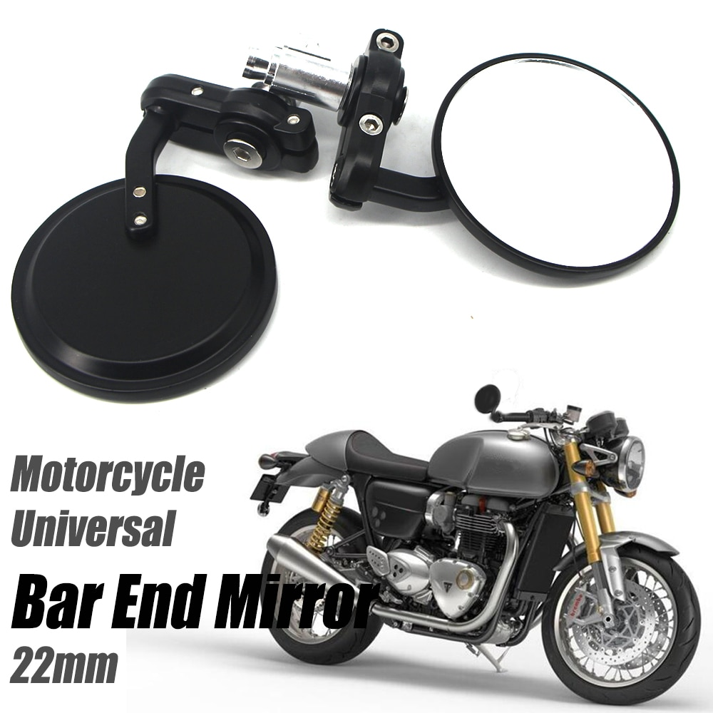 Для Кавасаки Z900RS для thruкстон 1200 R/уличная чашка мотоциклетный Руль заднего вида торцевое зеркало 22 мм-Калибр аксессуары