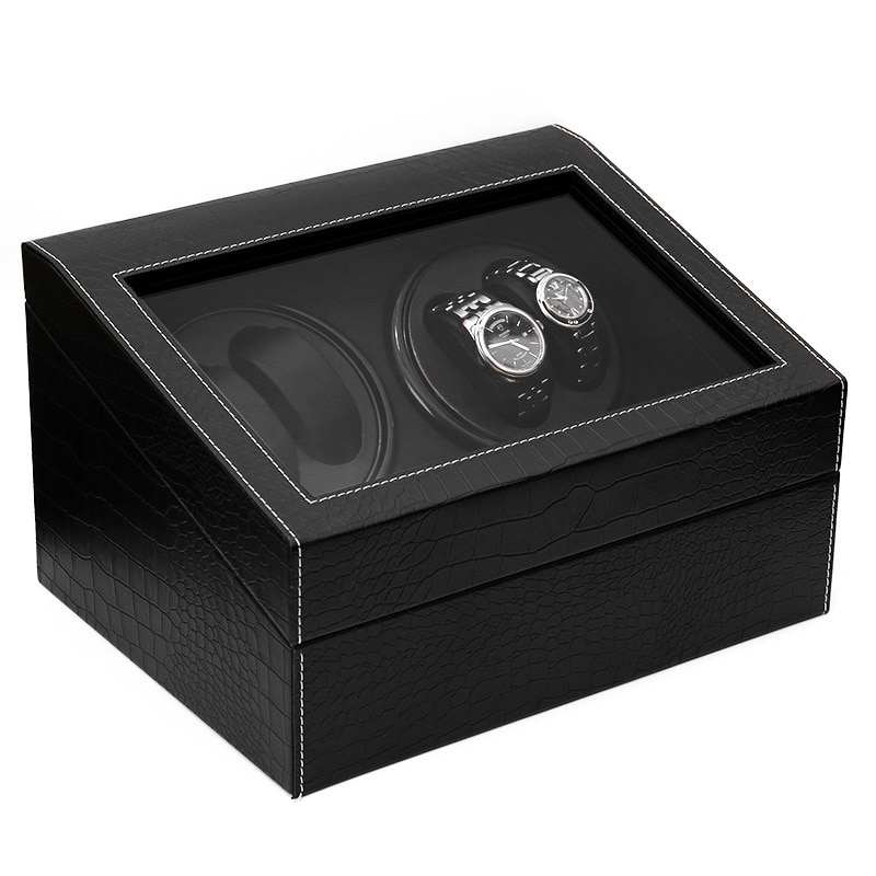 6+4 Winder Box High Quality Automatic Watch Slient Motor Box Watches Mechanism Cases Drawer Storage Display Watches Remontoir enlarge