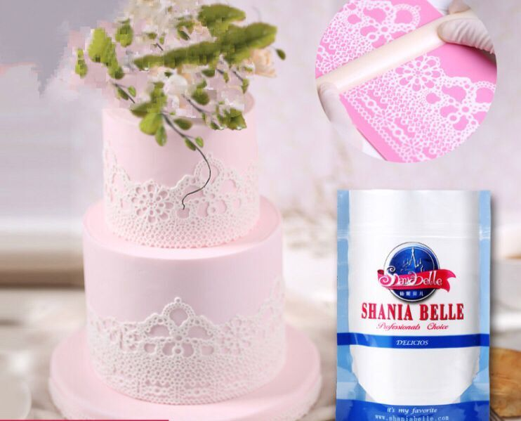 200g branco laço creme fondant creme laço cozimento bolo pasta de matéria prima pode ser toner bolo decoração diy laço