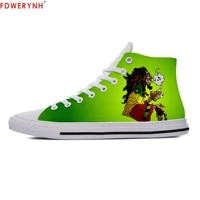 man casual shoes bob marley diy individualization canvas men leisure comfortable breathable walking shoes of white