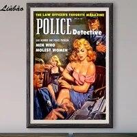 Probleme de Police numero un  V129 1953  Affiche en soie personnalisee  Vintage  film classique  decoration murale  cadeau de noel