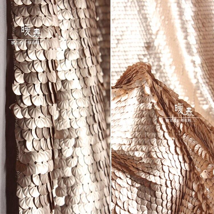 Золотая плотная рыбья чешуя ткань с блестками кружевная Чистая Пряжа Ткань для реквизита свадебное украшение фон для вечеринки платье