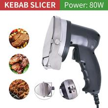 Rebanador eléctrico de Kebab de 3,93 pulgadas, cortador de Kebab, cortador de Shawarma y Gyros, cuchillo de cocina, rebanador de carne