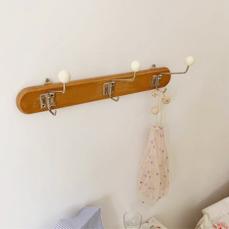 الشمال جدار هوك الفرنسية الكورية الملابس الخشبية قبعة حامل الرف السنانير الكروشيه المنظم الاطفال غرفة الديكور ديكور المنزل الحضانة