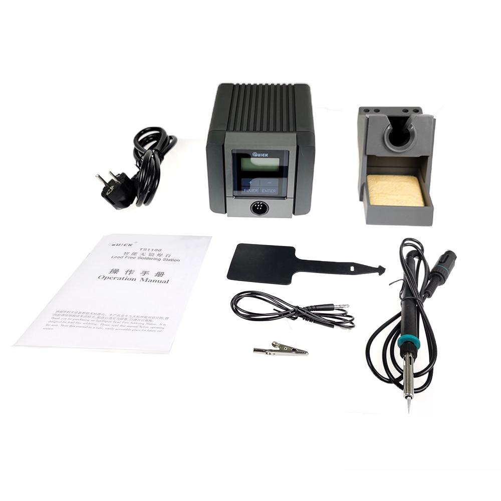 أداة لحام كهربية, محطة لحام ذكية لاسلكية مع شاشة LCD رقمية ، سريعة TS1100 ، 90 وات
