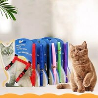 cat collar harness leash adjustable nylon pet traction cat kitten dog halter collar gato cats products pet harness belt