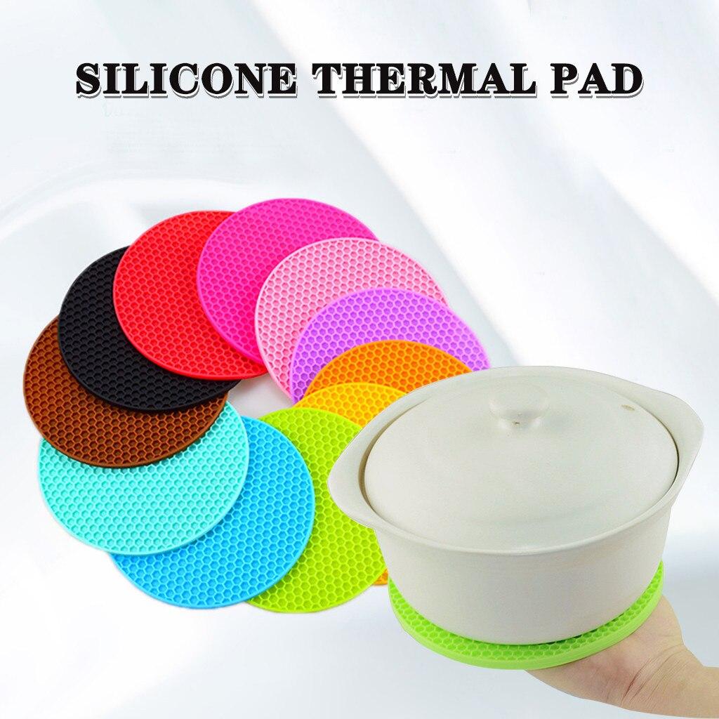 De silicona olla cojín resistente al calor antideslizante círculo alfombras manteles individuales aislantes Accesorios De Cocina Кухня #12