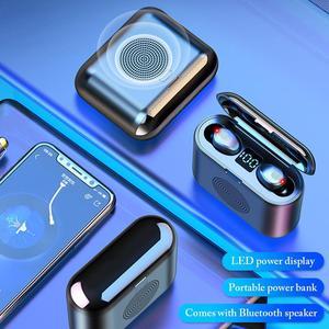 TWS Earphones  Cordless Bluetooth Earphone With Bluetooth Speaker Function Wireless Noise Canceling Handsfree Headset Earbuds