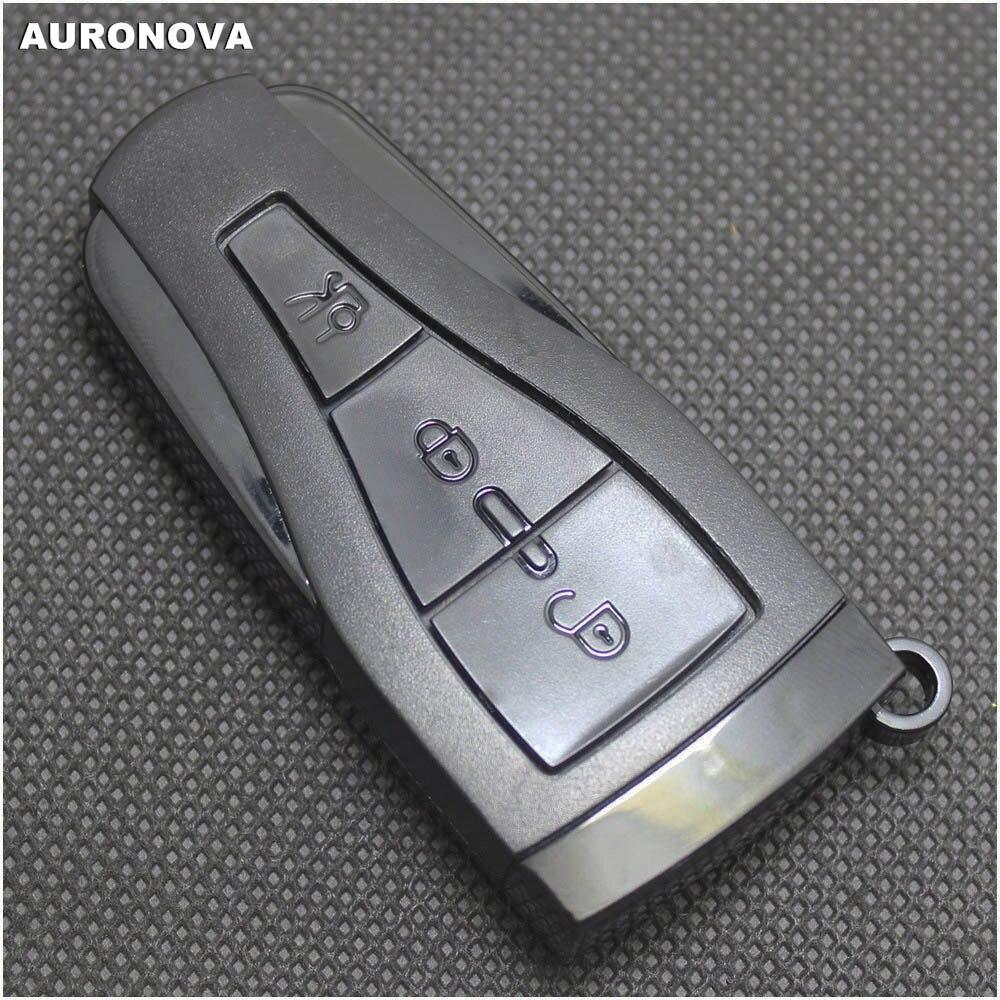 AURONOVA nueva carcasa de llave inteligente para FIAT Croma 3 botones llave original de coche remoto