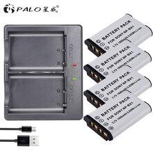 PALO 4 Pièces NP-BX1 batterie NP BX1 NPBX1 + Double bateria chargeur Pour Sony NP-BX1 HDR-AS200v AS15 AS100V DSC-RX100 X1000V WX350