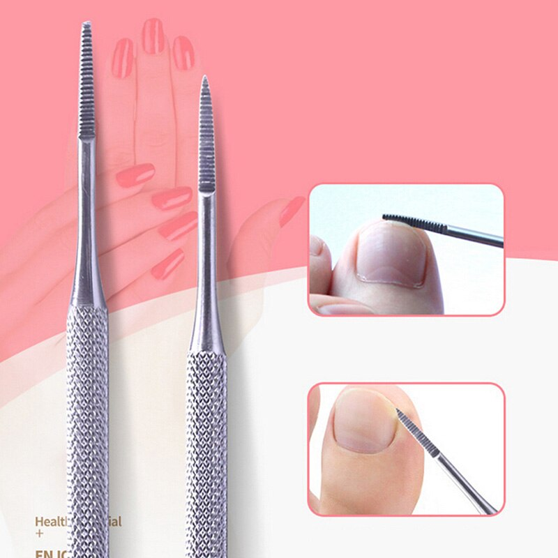 Double Ended Stainless Toe Nail File Pedicure File Satin Edge Ingrown Toe Nail Lifter Onychomycosis