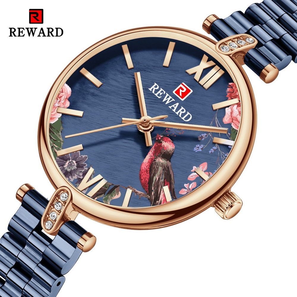 REWARD Fashion New Women Watches Top Luxury Brand Diamond Classy Ladies Quartz Watch Female Stainless Steel Dress Wristwatch