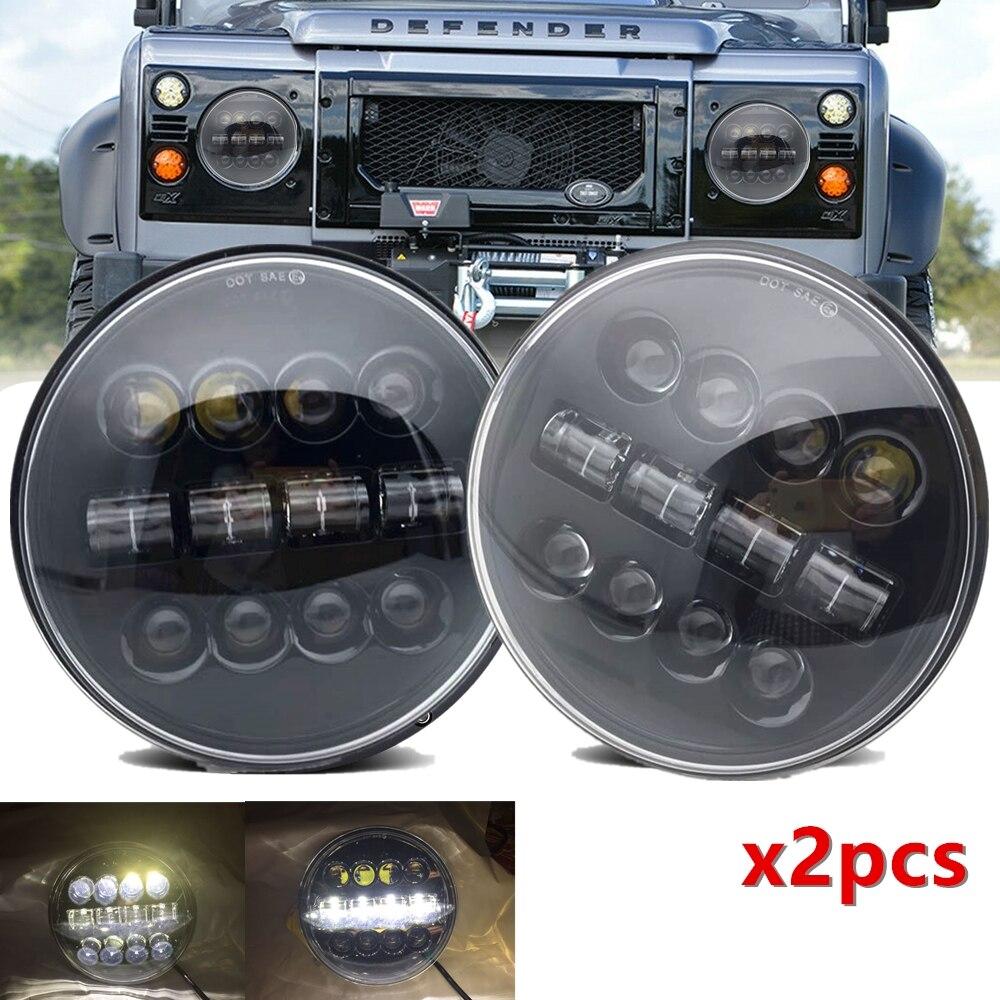 Hi Low Beam 7inch LED Headlights for Land Rover Defender for Jeep Wrangler Jeep CJ-8 Scrambler 1981-1985 for Lada 4x4 urban Niva