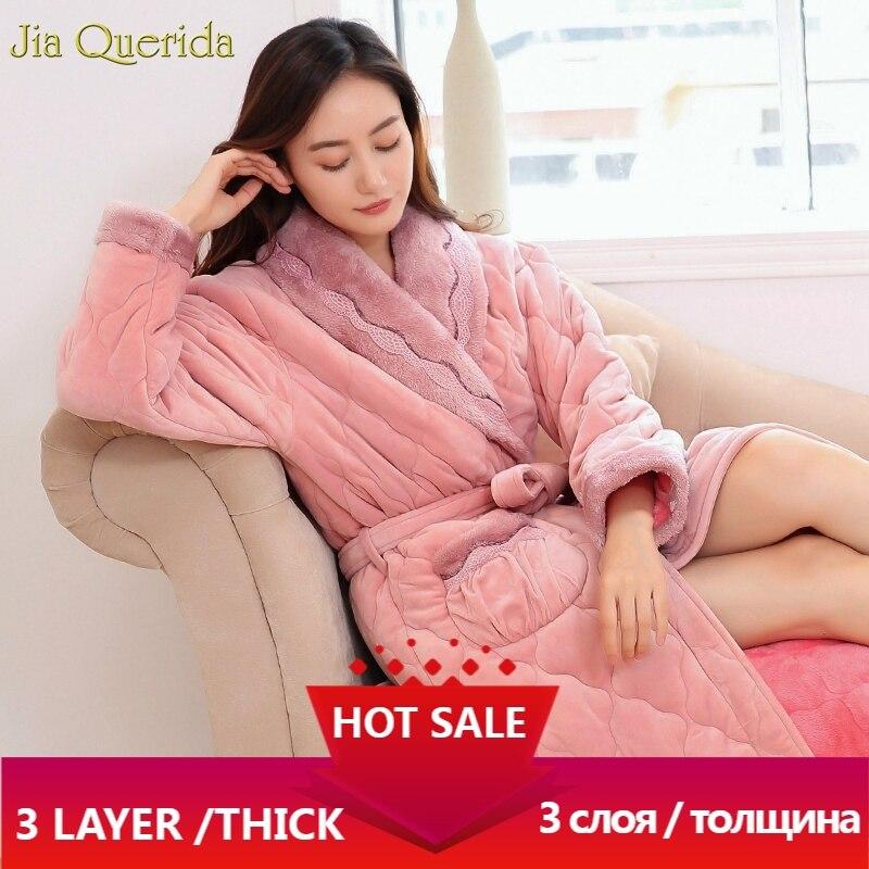 رداء حمام نسائي دافئ ، رداء حمام وردي أنيق ، ملابس داخلية ، ملابس داخلية ، كيمونو مخملي دافئ لفصل الشتاء