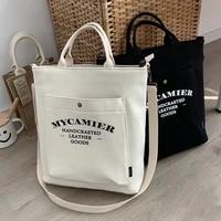 canvas laptop bags for women large capacity ladies shoulder bag student college school girls tote handbag study shopper japanese