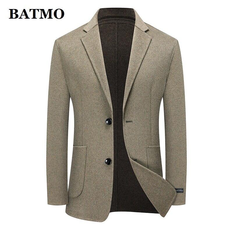 BATMO 2021 جديد وصول الخريف الصوف منقوشة سترة الرجال عادية ، بدلة رجالي سترة بليزر حجم كبير M-XXXL 176
