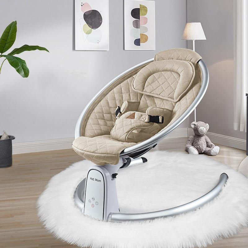Baby Electric Rocking Chair Newborn Adjustable Rocking Bed Hotmom Cradle Bed