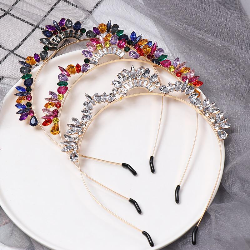 JUJIA Trendy Crystal Hairwear For Women Wedding Accessories Cute Girl Headband Brand Design Statement Hair