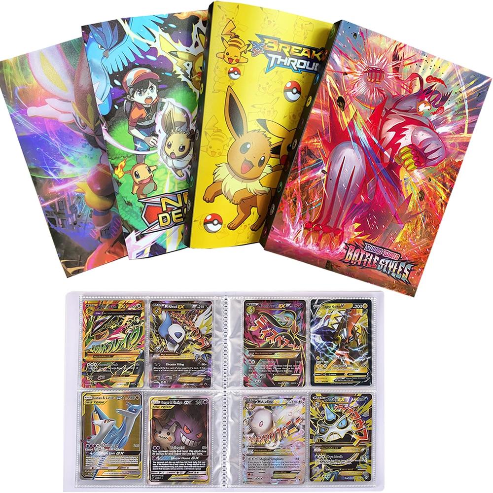 Альбом для покемонов, книга для игр в коллекции, книга с картами покемонов, папка с загруженным списком, детская игрушка в подарок