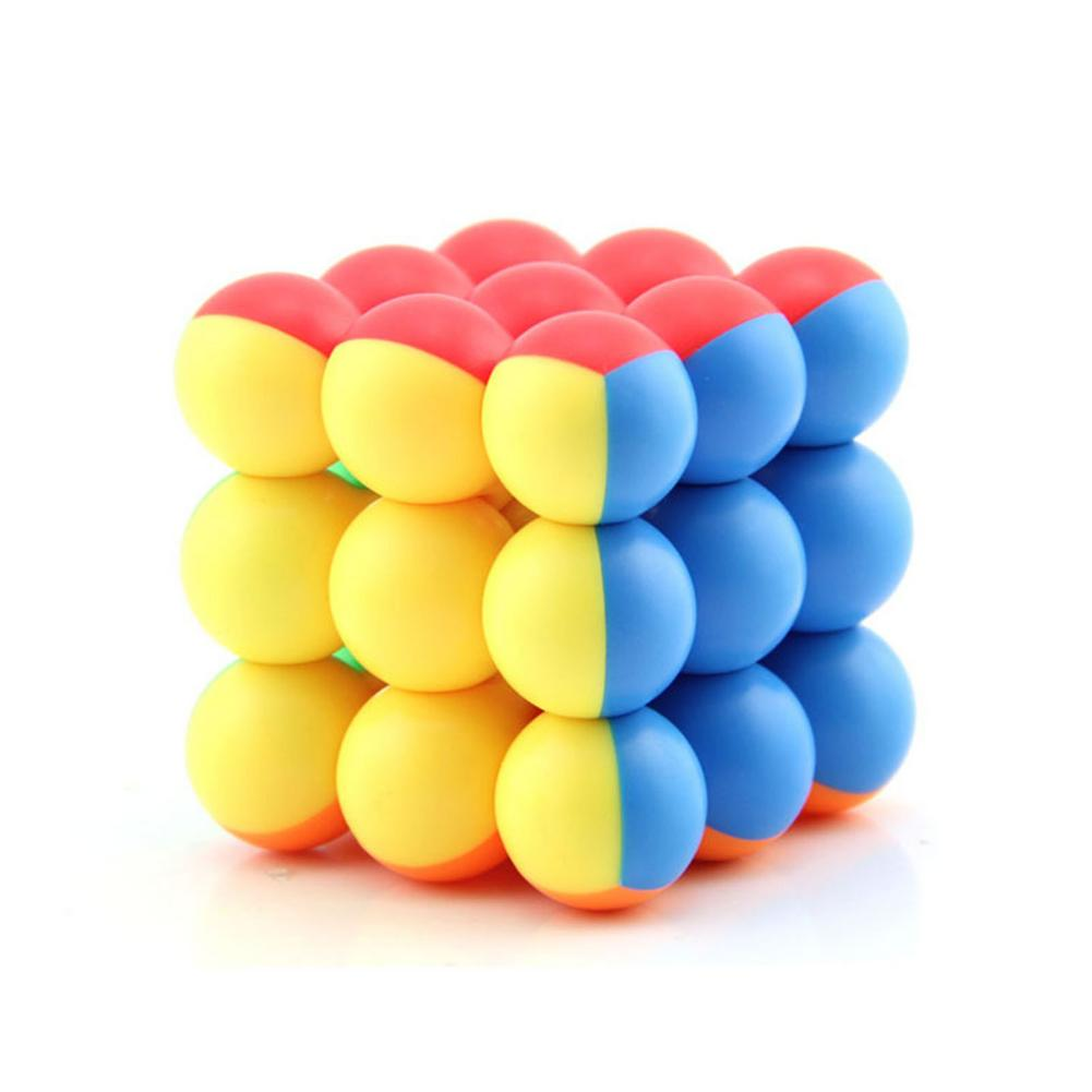 new 3x3 torsion magic cube magnetique coloful twisted cube puzzle toy stickerless puzzles colorful educational toy bandaged cube 3x3 Ball Cube Bead 3x3x3 Stickerless Magic Cube Puzzle Beads Magic Cube Stickerless Ball Speed Magic Cube For Kids Gift Toy