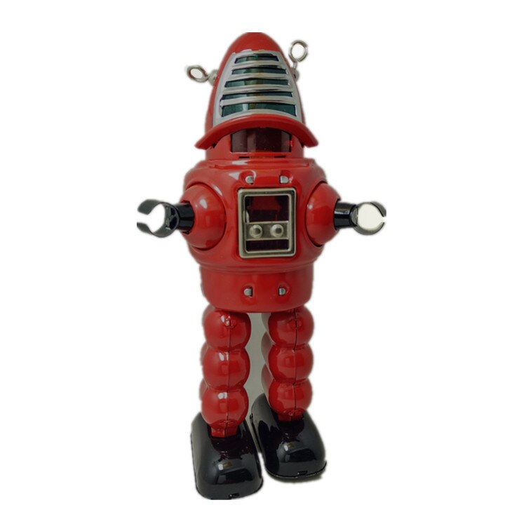 [Divertido] Colección para adultos Retro Wind up toy Metal estaño espacio planeta mecánico bala robot figuras de juguete de cuerda modelo niños regalo