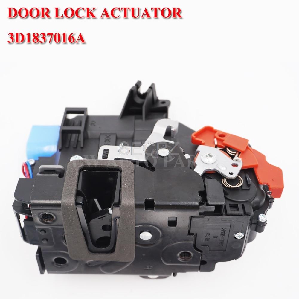 Mecanismo de actuador de cerradura de puerta delantera derecha 3D1837016A para GOLF 5 V MK5 para VW SEAT LEON TOLEDO SKODA Octavia CENTRAL 9 pin