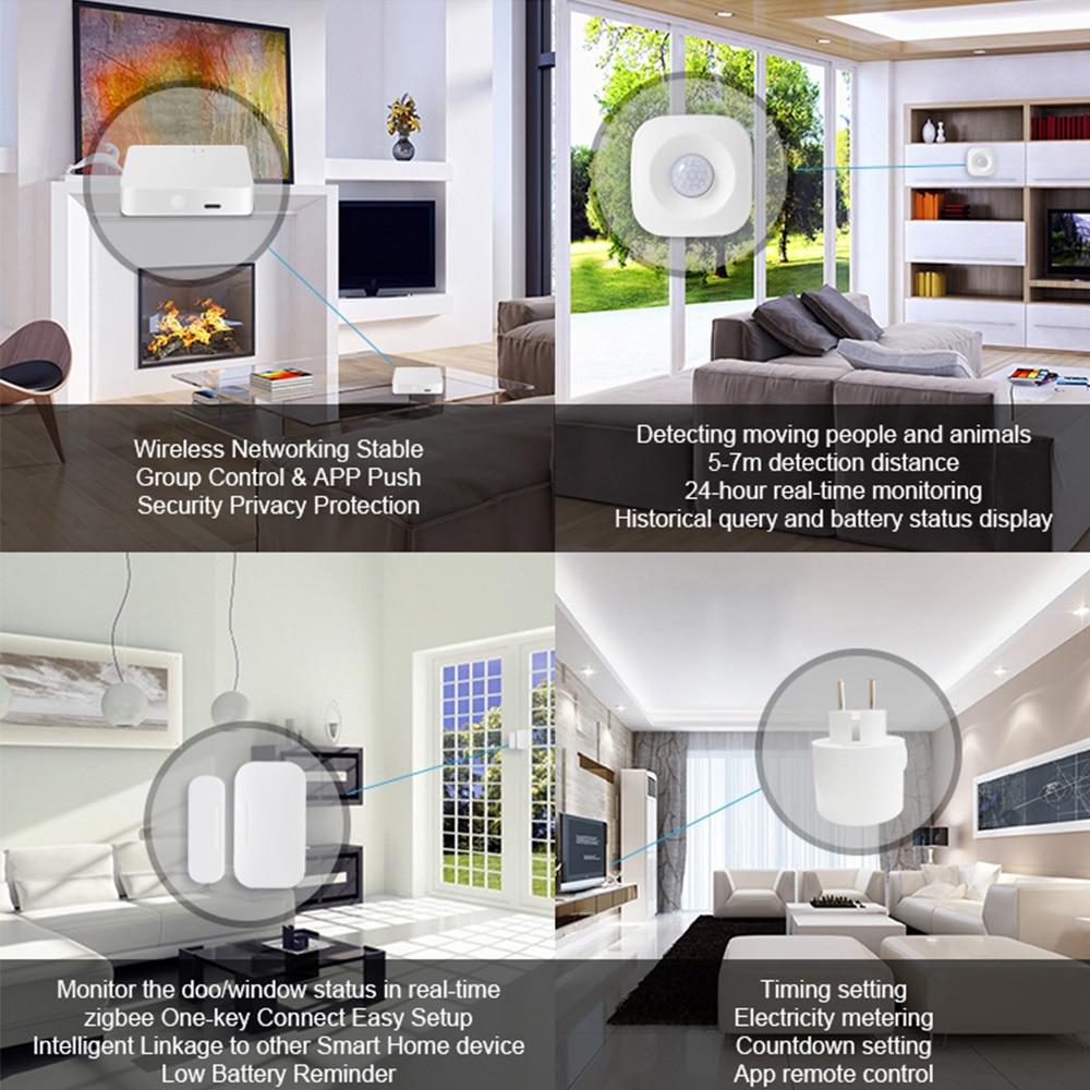 EU UK US Tuya Smart Plug Outlet ZigBee PIR Door Sensor Smart Home Monitoring Security Alarm System works with Alexa Google enlarge