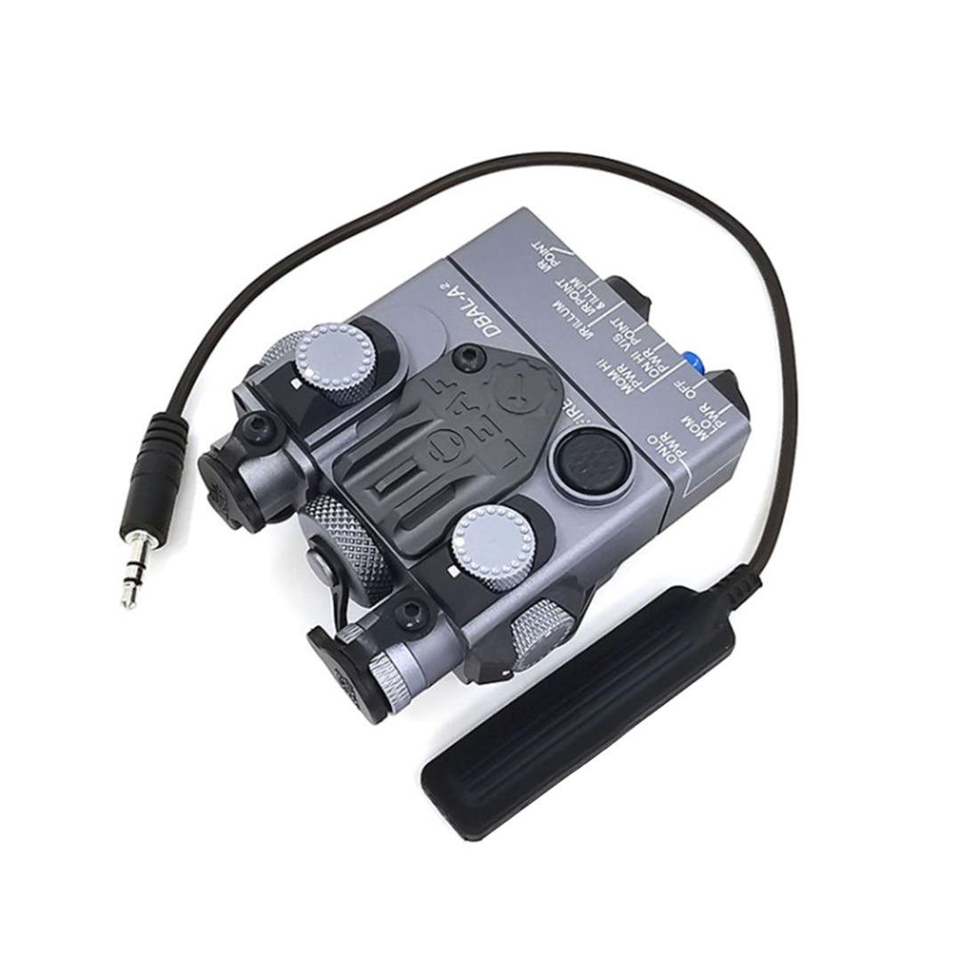 SoTac visión nocturna IR PEQ15 dbal a2 láser mirilla apuntada batería caja equipo táctico para exterior Airsoft-LED linterna versión