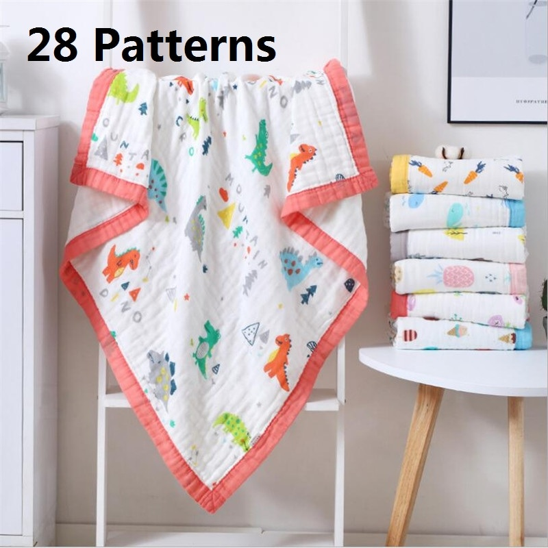 110x110cm 120x150cm 6 layers muslin baby blankets for beds cotton newborn blanket baby receiving blankets swaddling baby blanket