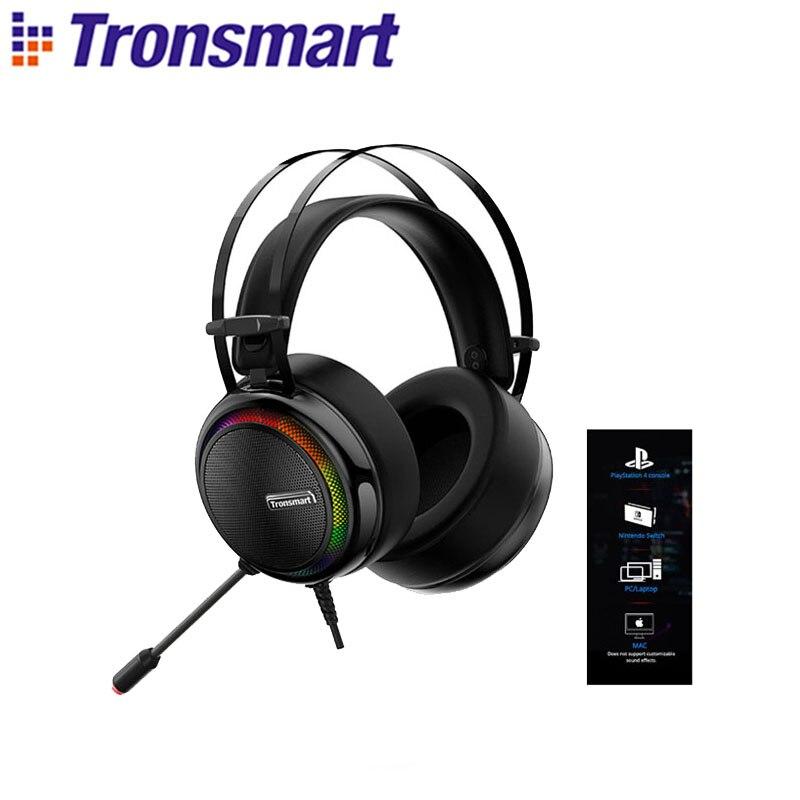 Tronsmart-auriculares Glary Virtual 7,1 Surround para videojuegos, cascos con micrófono de cancelación...