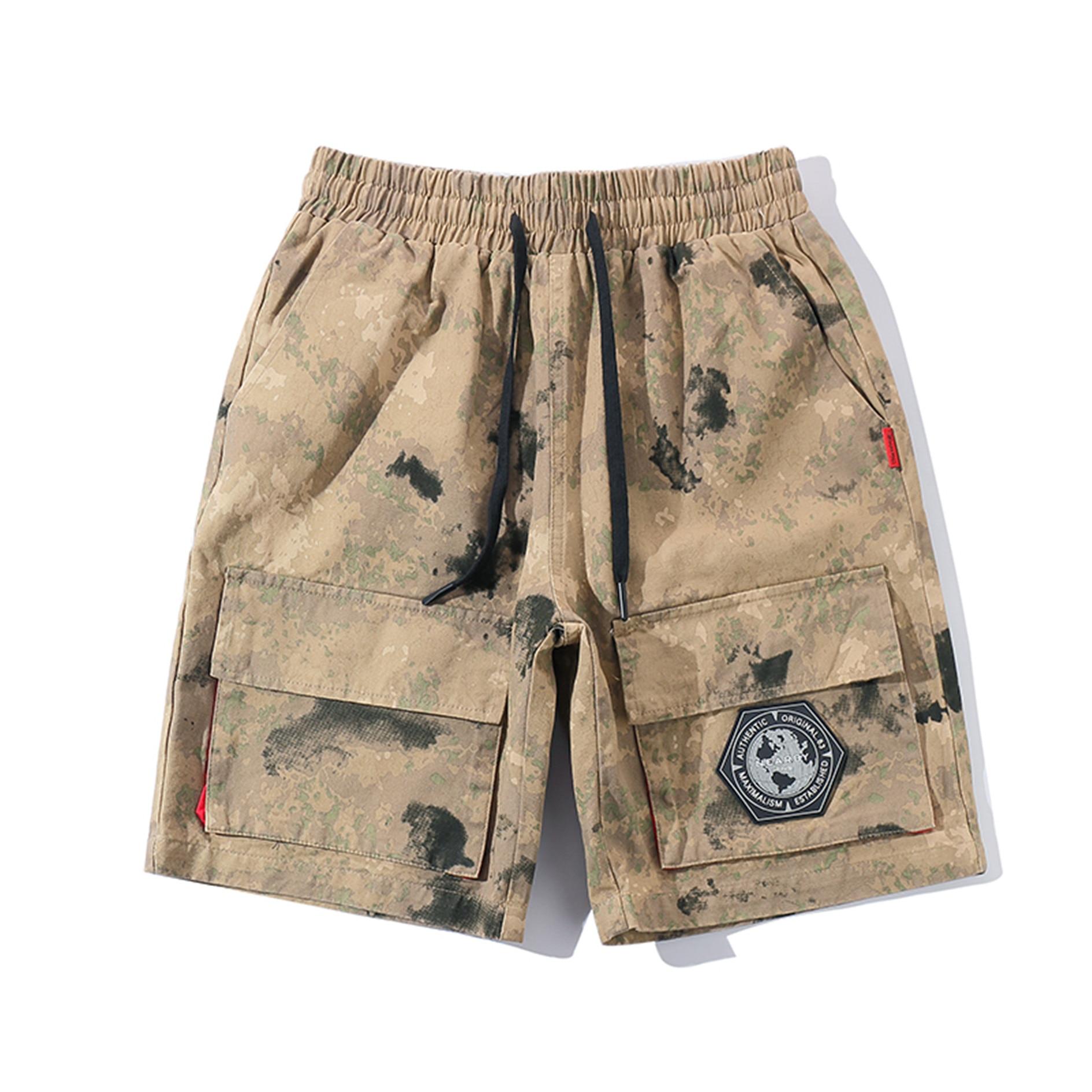 Verano Casual hombres pantalones cortos Vintage pantalones Jogger camuflaje con bolsillos de Kleding vencer Fitness XX60MS