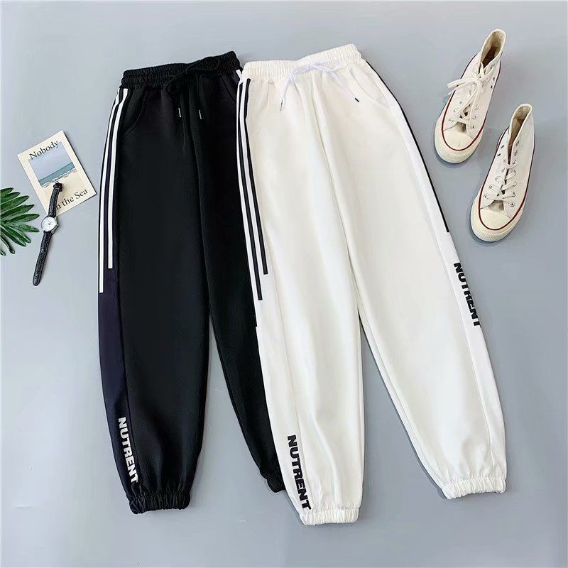 QWEEK Jogging Oversize Sweatpants Women Baggy Harajuku Streetwear Joggers Sports pants Plus Siz Black Hip Hop Trousers Female