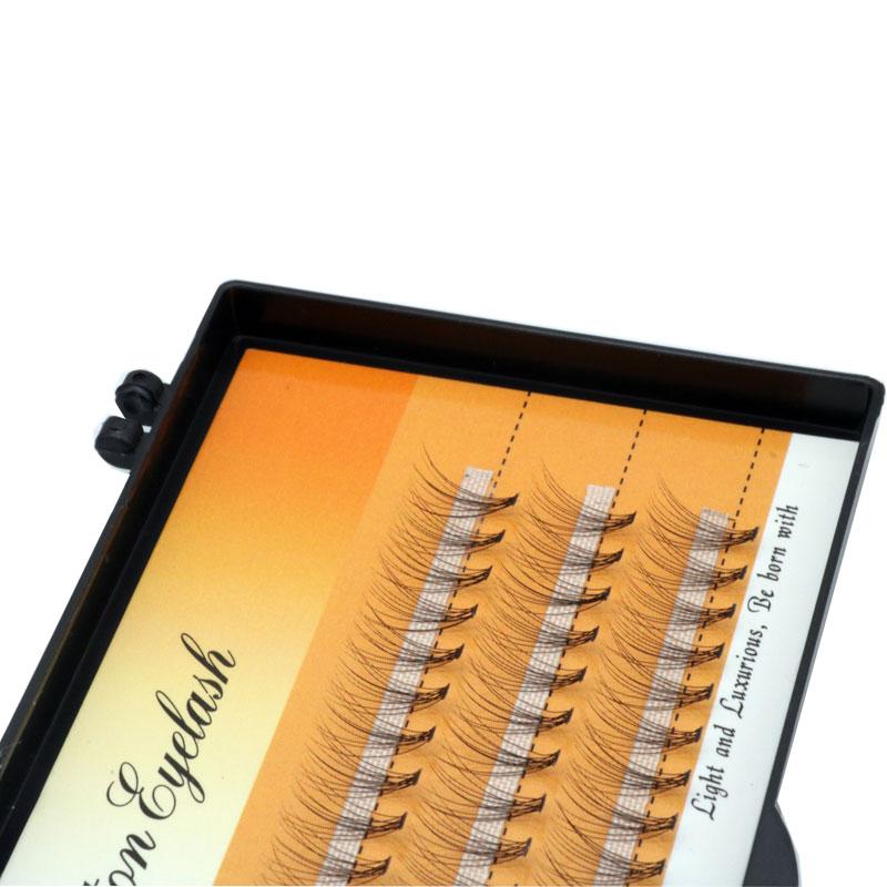 60 pçs/caixa super macio preto c curl tipo wimpers valse cílios individuais maquiagem moda cílios natural salão de beleza lasher uso
