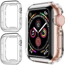 Proteggi schermo per Apple Watch 7 custodia 41MM 45MM 44MM 40MM Full TPU paraurti Iwatch Cover 42mm 38MM accessori iwatch 6 5 4 3