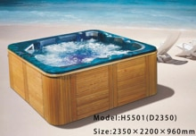 Luxus outdoor Jacuzzi Große spa pool massage badewanne