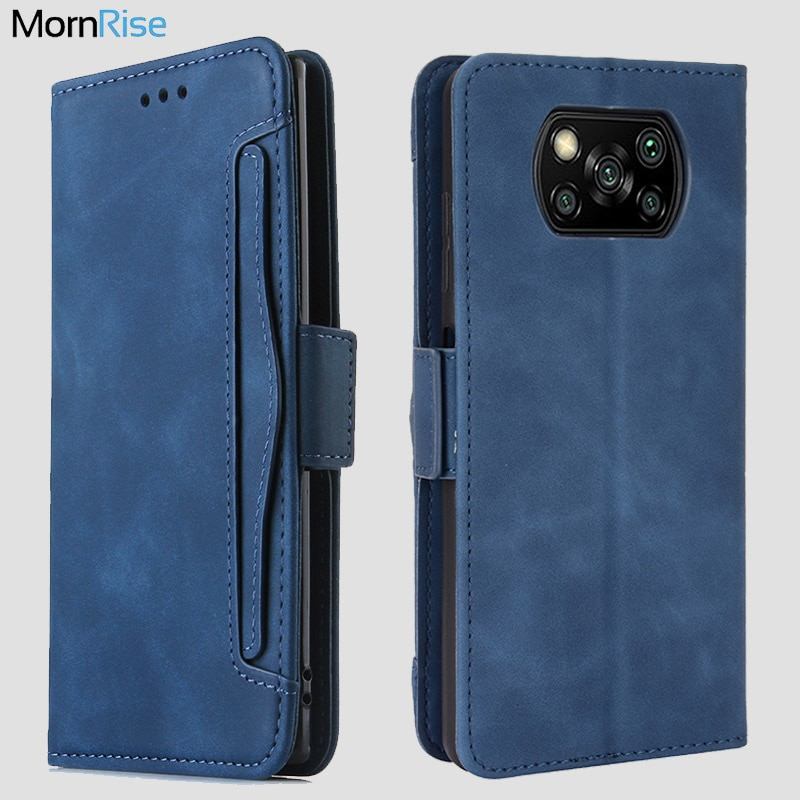 For Xiaomi MI Poco X3 NFC Wallet Case Magnetic Book Flip Cover For Pocophone M3 F2 Pro Card Holder L