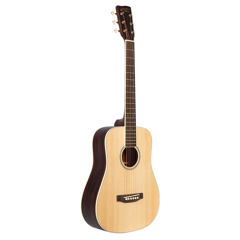 Recordingking  solid Spruce Top, solid Mahogany Back&Side  All solid acoustic guitar  35-inch Travel  guitar with bag enlarge
