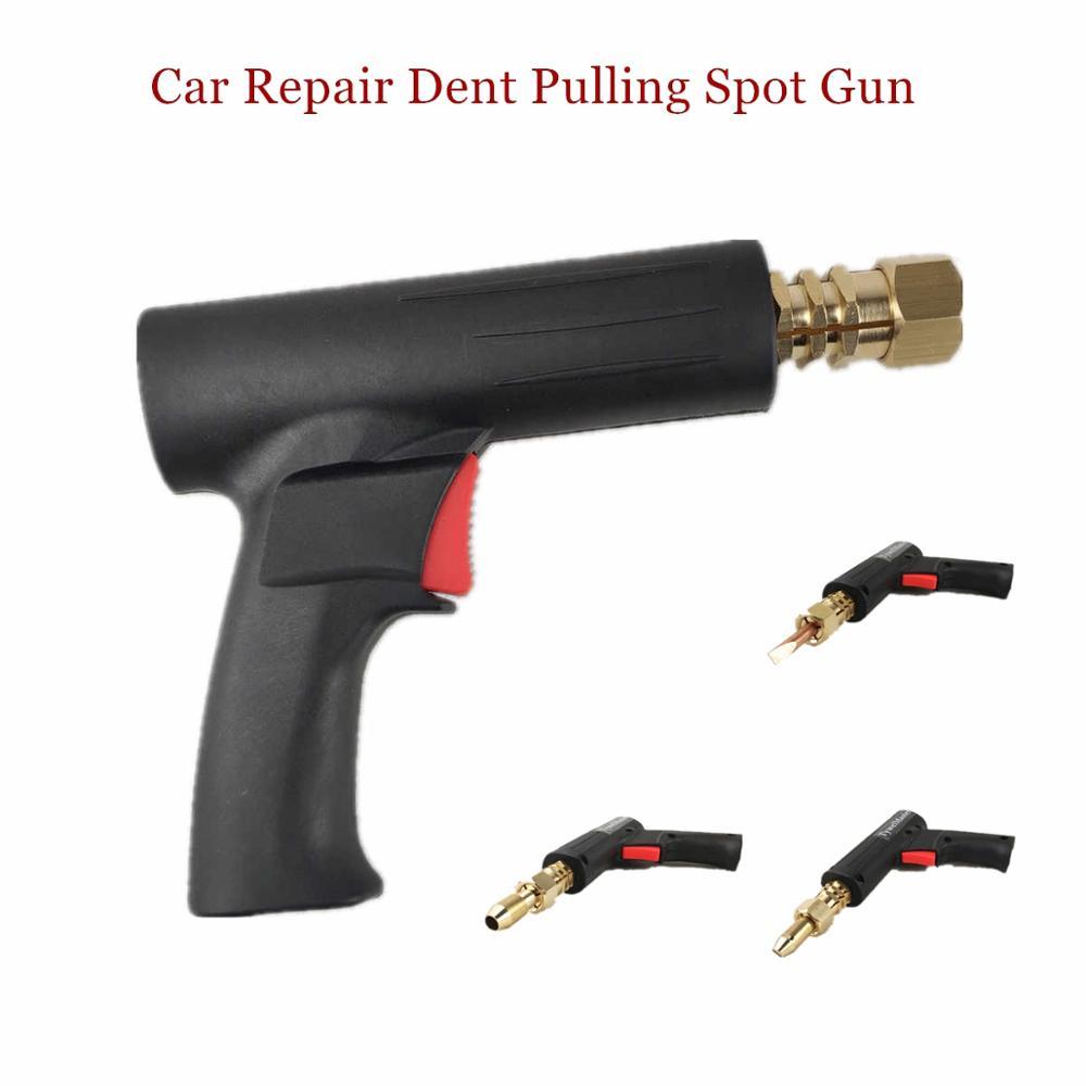 Dent Pulling Spot Welding Gun Garage Accessories Sheet Metal Repair Washer Wavy Wire Stud Carbon Rod Car Body Repair Tools