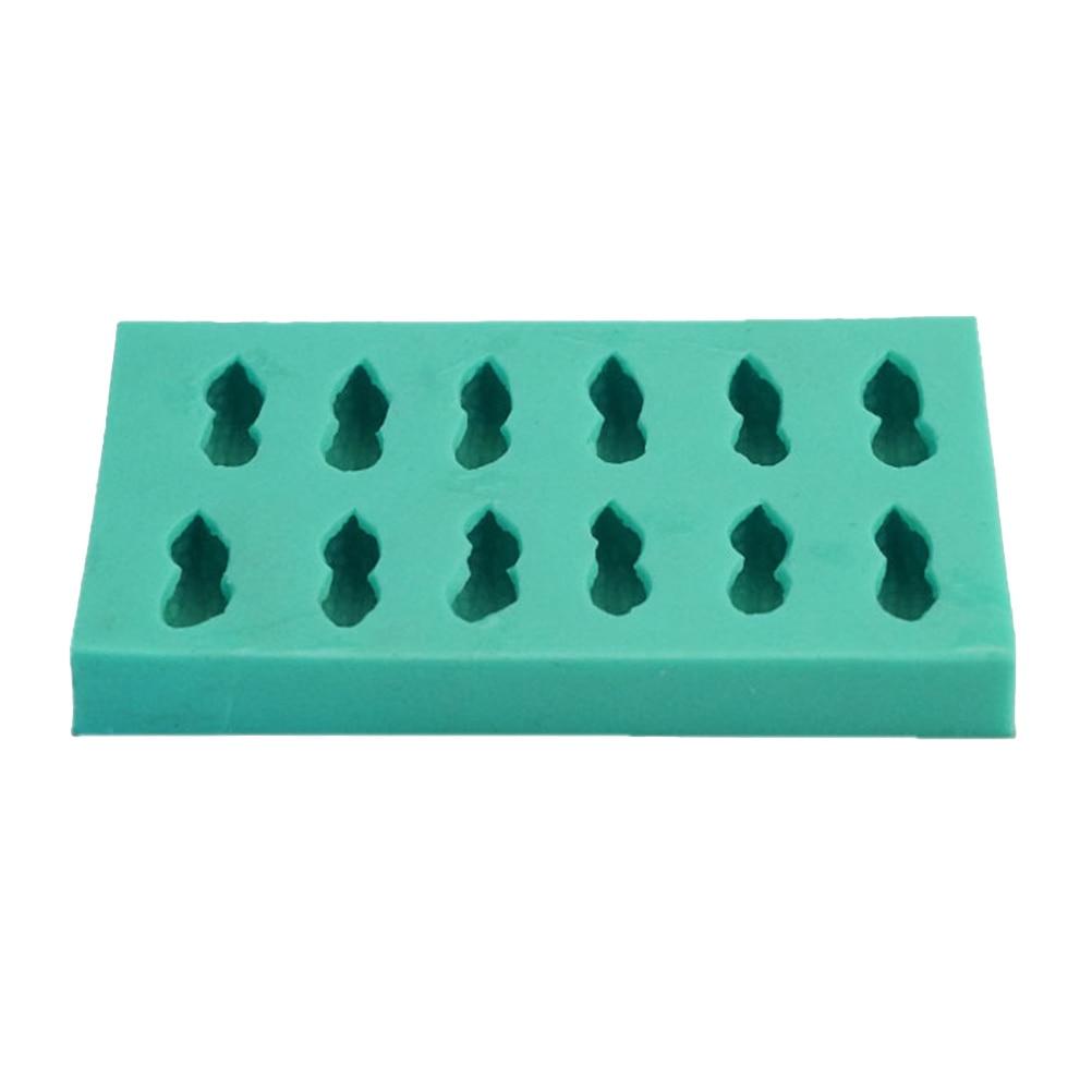Novedoso molde de silicona para pastel o galletas, molde de silicona de color Chocolate, herramienta para hornear, forma de cacahuete simulada (verde) 1 ud.