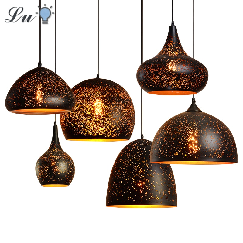north american country pendant lights loft retro dining room bedroom ceiling lamp simple creative iron 3 6 heads pendant lamps Led Pendant Lights Vintage Indoor Hanging Lamp E27 Loft Dining Room Bar Lighting Kitchen Fixture Modern Pendant Ceiling Lamps