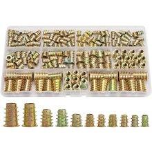 Inserts écrous filetés   Kit doutils dassortiment de Inserts de bois, attache de boulons pour meubles M4/M5/M6/M8 (165 pièces)