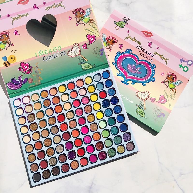 99 cores sombra grande paleta brilho shimmer matte pó palete de maquiagem à prova dwaterproof água profissional sombra de olho paleta cosméticos