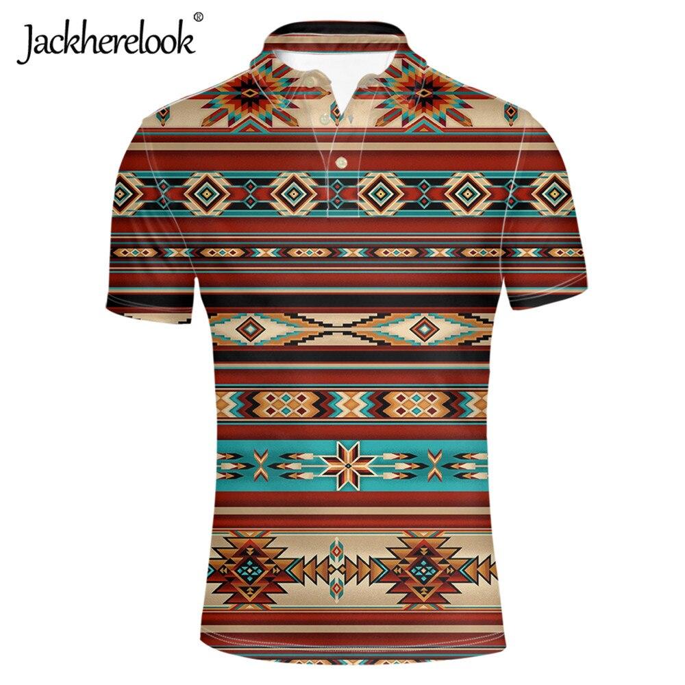 Jackherelook tradicional africano Tribal étnico patrón hombres polos Casual verano Tops Tee ropa de manga corta hombres 2020