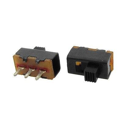 50 piezas 3mm perilla alta 3Pin 2 posiciones 1P2T SPDT interruptor deslizante Vertical 0.5A 50V CC