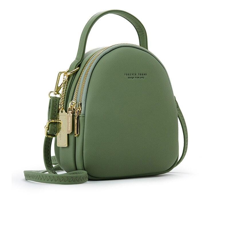 Fashion Small Backpack Ladies Shoulder Crossbody Bag Big Capacity 3 Layer Women Backpack Soft Leather Female Mini Bolsa