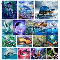 tour the underwater world diamond painting modern oil painting shark painting diamond cross stitch toy diamond embroidery