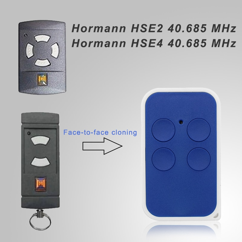 Clone Hormann HSE2 HSE4 40.685 MHz, mando a distancia, Hormann, baja frecuencia, control de puerta de garaje