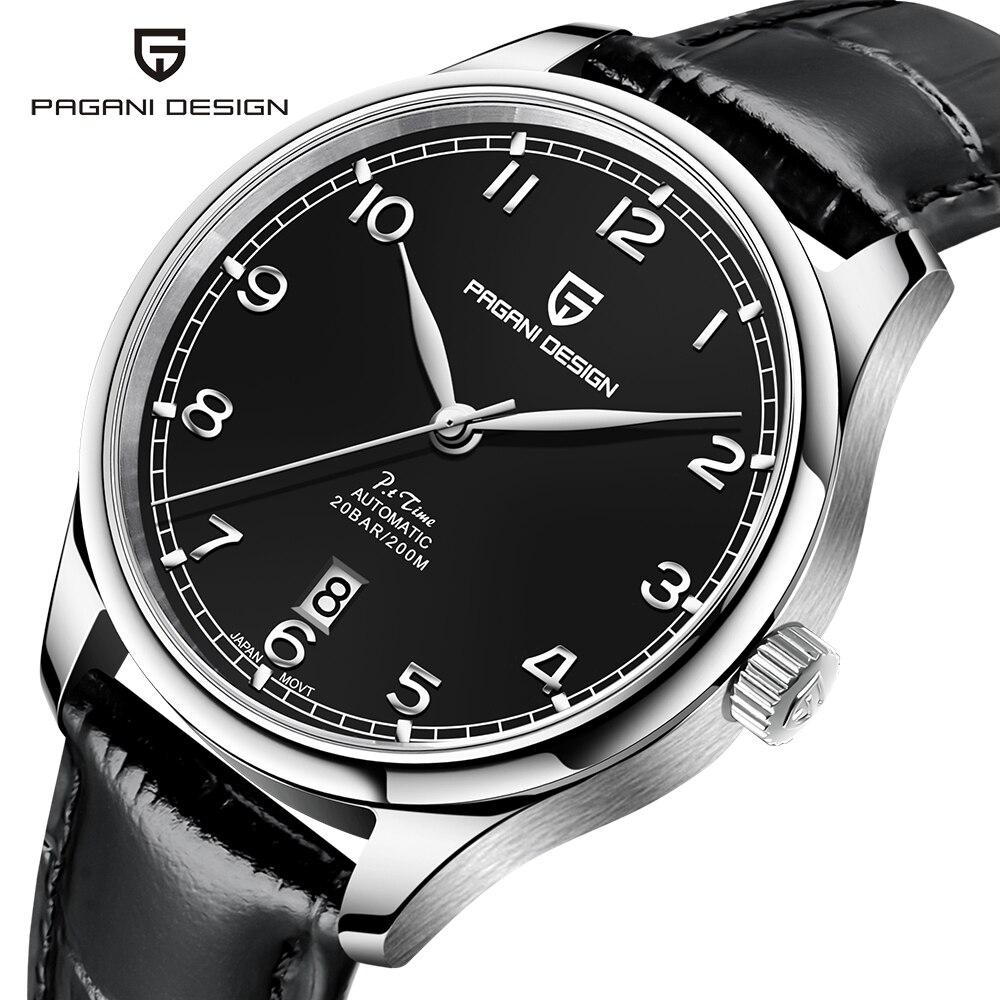 PAGANI DESIGN Top Brand Men Pilot Watch Automatic Luxury Sports Mechanical Wristwatch Waterproof 200M Genuine Leather Watch Men