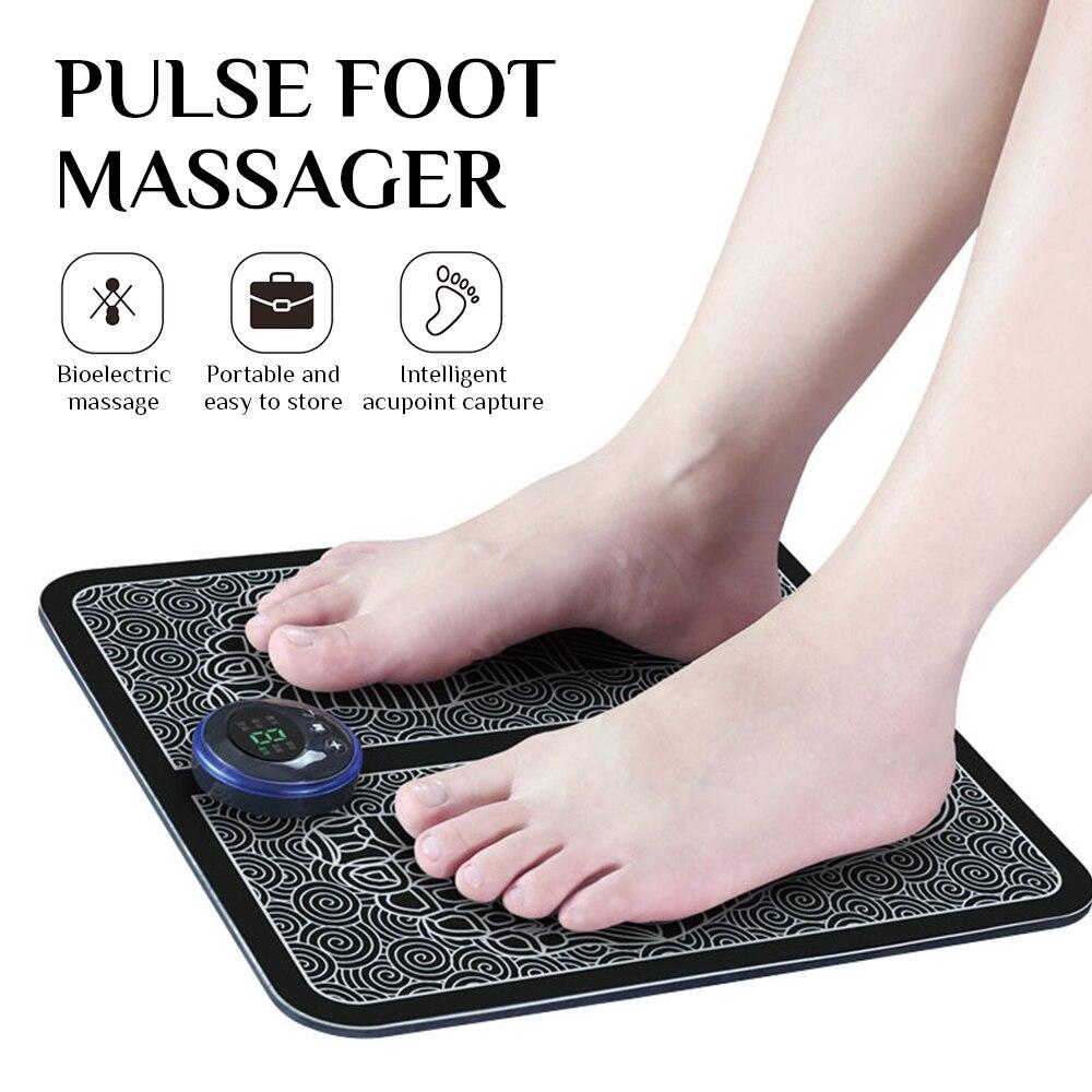 Masajeador de pies eléctrico EMS, esterilla de masaje de pies, esterilla revitalizante para pedicura, circulación suelta, alivio del dolor, cuidado de la salud