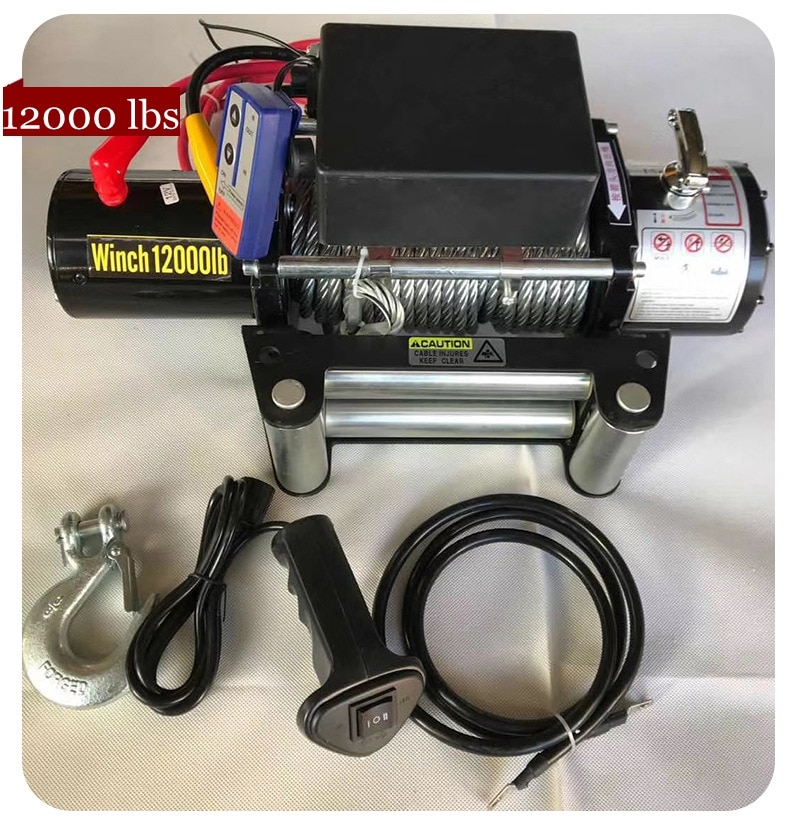 12V24V 12000 lbs vehicle self-rescue off-road winch off-road vehicle winch on-board crane electric winch